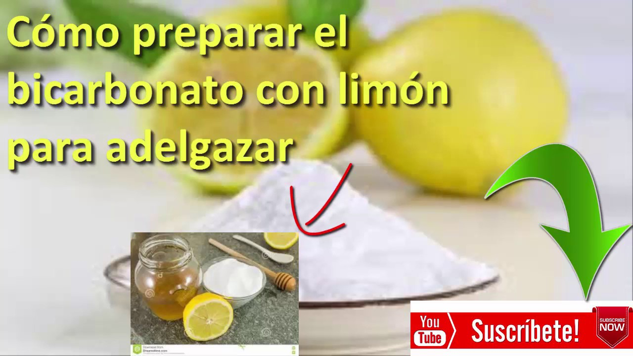 Agua con limon y bicarbonato para adelgazar