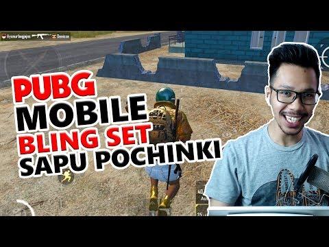 SAPU BERSIH POCINKI DENGAN BLING SET - PUBG MOBILE INDONESIA