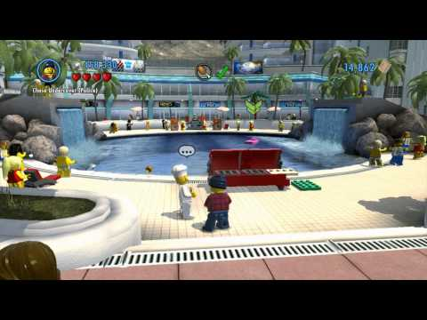 LEGO City Undercover - Chap 5: Doorman, Find Record (Music) \u0026 Chicken, Fix Grill, Combat, Steal Car