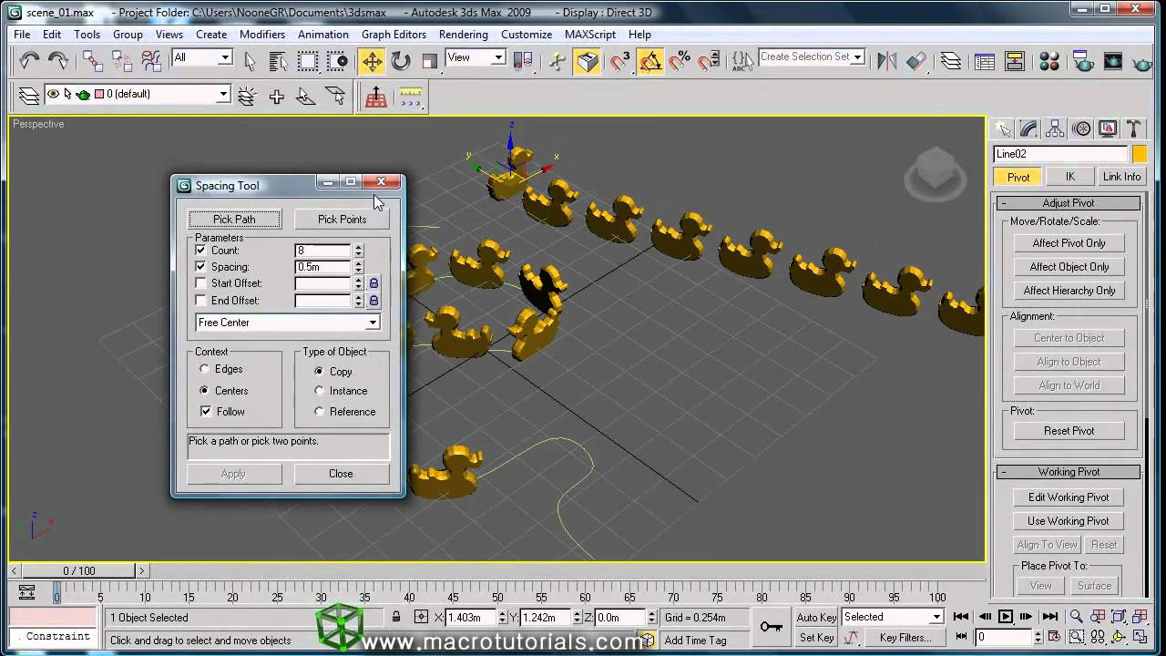 3d studio max tutorial how to create arrays ordered for Tutorial 3d max