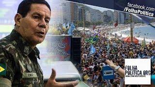 General Mourão é recebido por multidão ao representar Bolsonaro após atentado