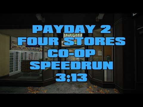 Payday 2 - Four Stores DW Co-op Speedrun 3:13 [World Record]