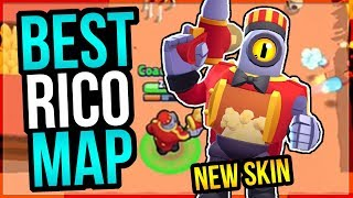 DOMINATING With New POPCORN RICO SKIN! Best Map for Rico!