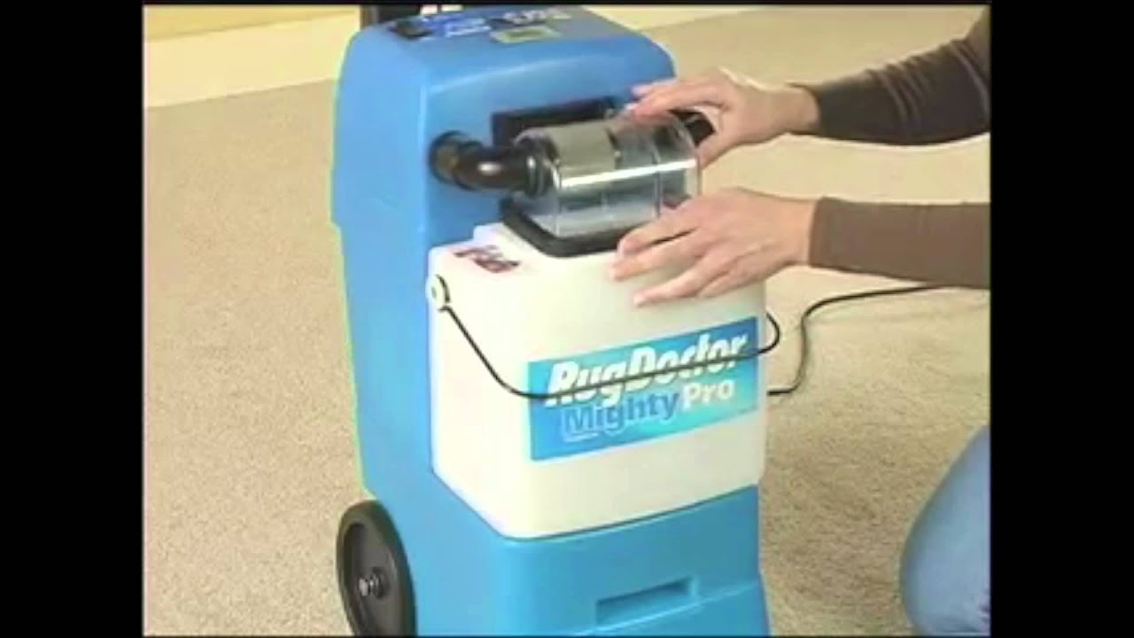 Lr 6 How To Use The Rug Doctor Mighty Pro Carpet Cleaner - Youtube