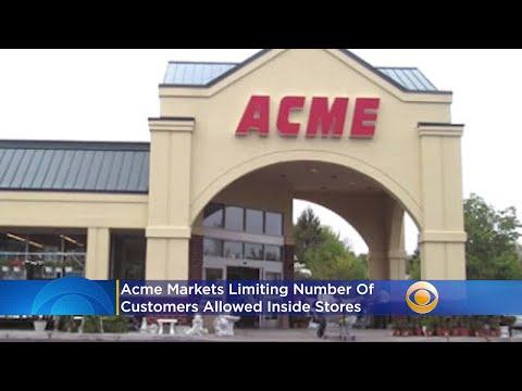 Acme Markets Limiting Number Of Customers Allowed Inside Stores To Enhance Social Distancing Measure
