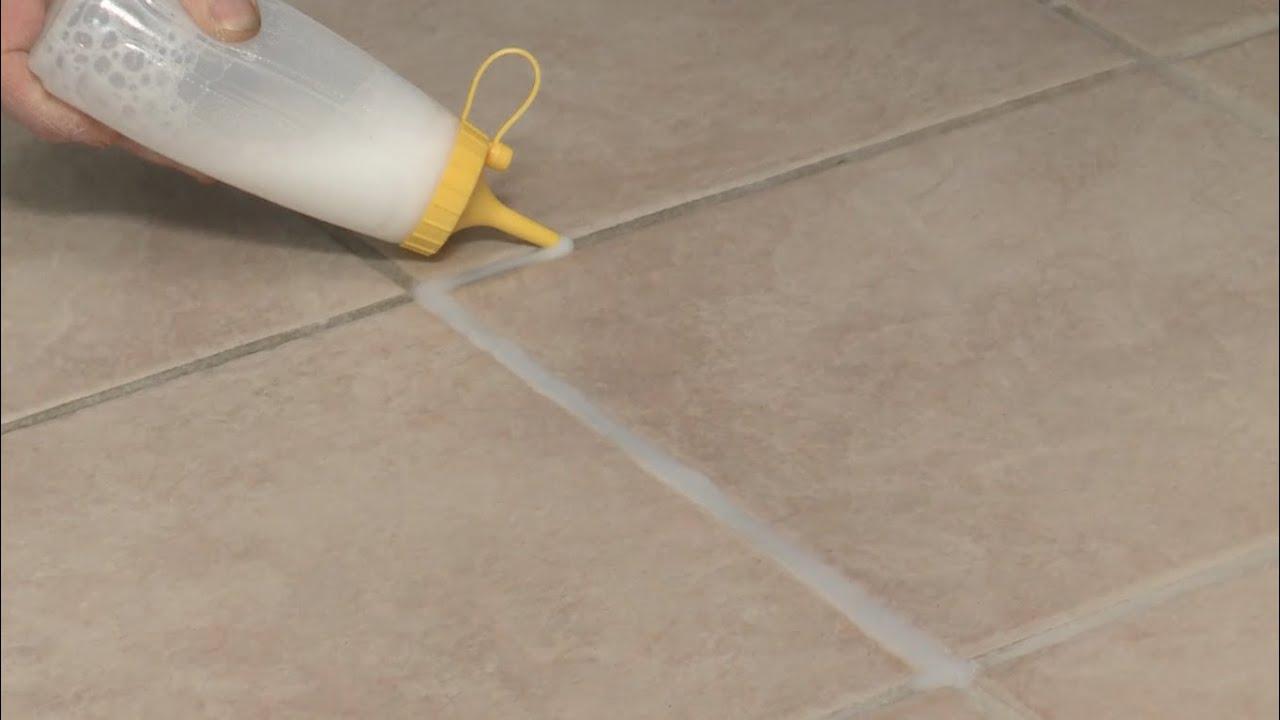 Quick Fix Whiten Floor Tile Grout YouTube
