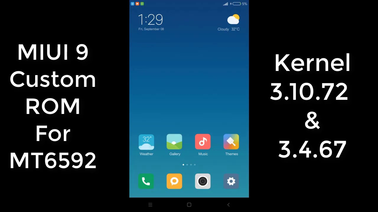 [MT692] MIUI 9 Custom ROM Kernel 3 4 67 Kitkat 4 4 2 (Micromax E313)