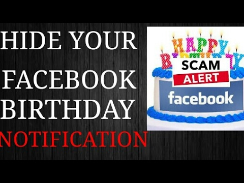 How to hide birthday on facebook timeline