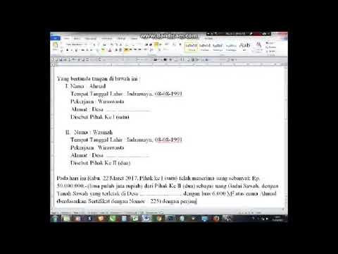 Cara Membuat Surat Pernyataan Gadai Sawah