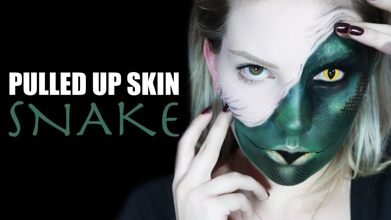 PULLED UP SKIN SNAKE 🐍 | Halloween Makeup Tutorial - YouTube