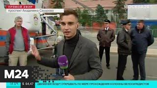 На проспекте Академика Сахарова работает выставка городской техники - Москва 24