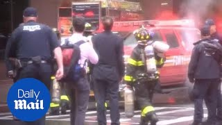 'The building shook': evacuations in midtown after NY chopper crash
