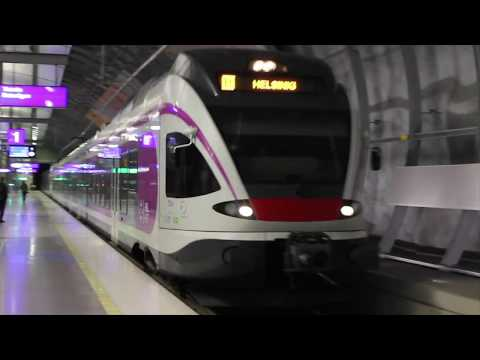 Trip to Helsinki / Helsinki trains, metro and trams 31.10.2017