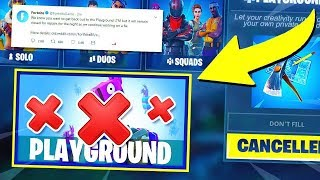 *NEW* Fortnite PLAYGROUND LTM is CANCELLED! | Fortnite Battle Royale Gameplay