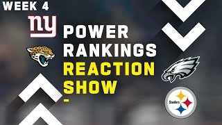 Week 4 NFL Power Rankings Reaction Show