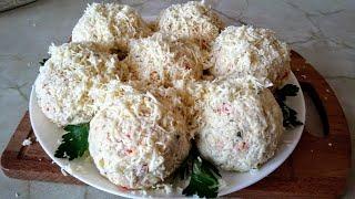 Салат  Рафаэль. Цыганка готовит. Крабовый салат. Gipsy kitchen.