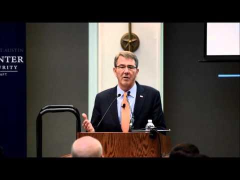 Secretary of Defense Ashton Carter Speaks to UT Students