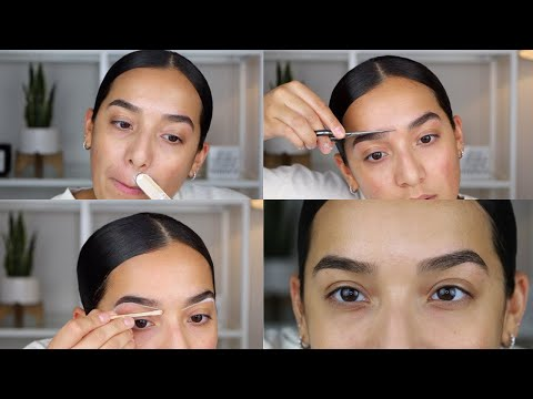 How I Wax My Eyebrows & Upper Lip At Home 2020 | AMAZON WAX WARMER & SUPPLIES | Satin Smooth Wax - YouTube