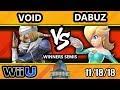 DHATL18 Smash 4 - CLG | VoiD (Sheik) Vs. GRV | Dabuz (Rosalina) - Wii U Winners Semis