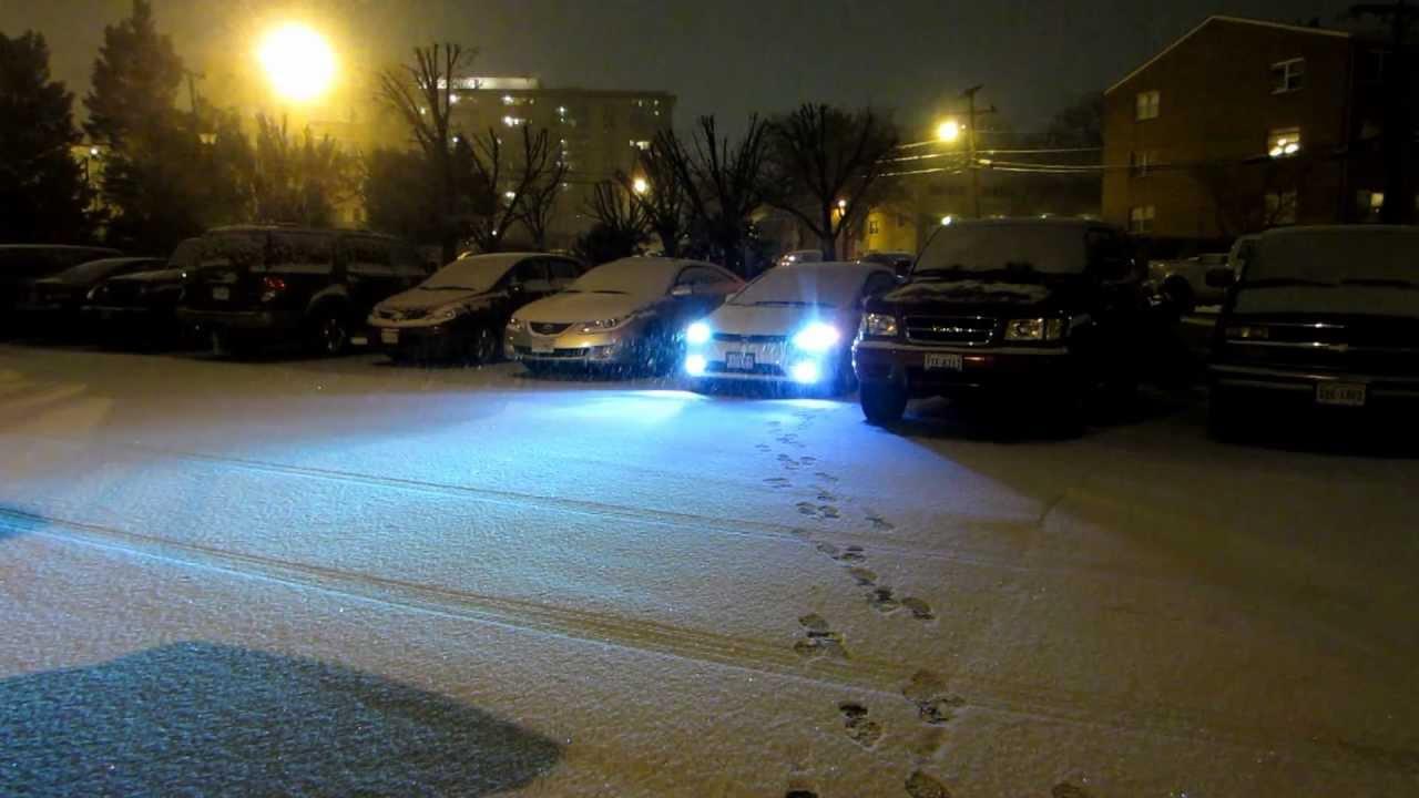 Honda civic LED DRL hids LOW n FOGS  YouTube