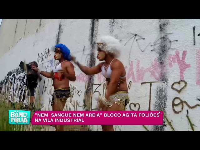 """""""Nem Sangue Nem Areia"""": bloco agita foliões na Vila Industrial"""