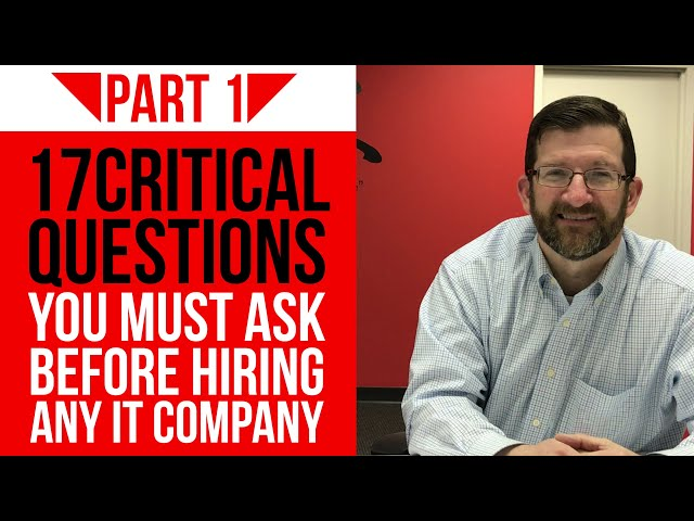 What You Should Know Before Hiring an IT Company (2019) | Part 1 | Kyocera Intelligence