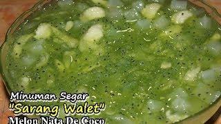 Resep Praktis Membuat Minuman Segar 'Sarang Walet Melon Nata De Coco ala Zasanah