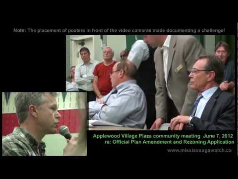 Applewood Plaza Renovation public meeting, June 7, 2012  (Councillor Jim Tovey, Ward 1)