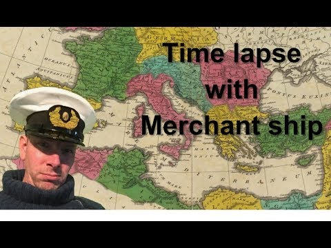 Life of seaman / seafarer /sailor / sun set of ship timelapse sailing in  Mediterranean sea