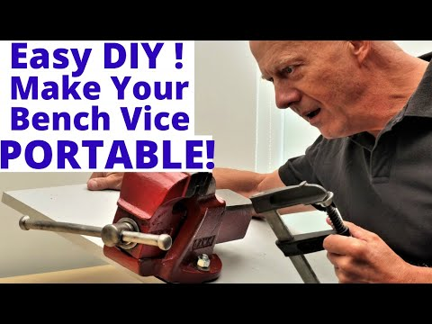 How To Make Your Bench Vice  PORTABLE!