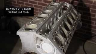 BMW M73 V12 engine from an E38 750iL