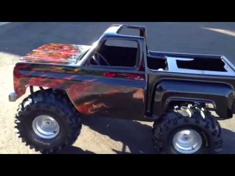 Mini Trophy Truck >> Carter Brothers Monster Truck Go Kart with true fire flames - YouTube