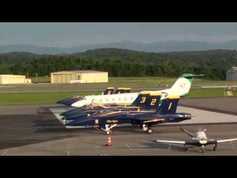 Blue Angels Startup and Departure from Tri-Cities Airport