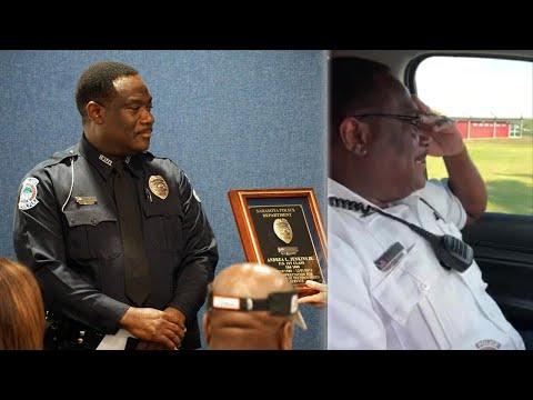 Retiring Cop Gets Emotional During Last Radio Call