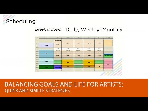 Balancing Goals and Life for Artists: Quick and Simple Strategies