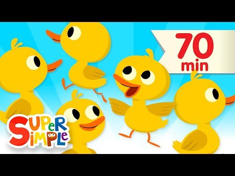 Five Little Ducks + More  Kids Songs and Nursery Rhymes  Super Simple Songs