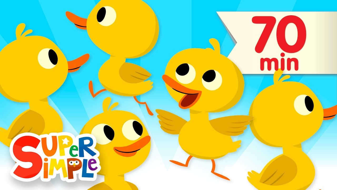 Five Little Ducks + More | Kids Songs and Nursery Rhymes | Super Simple Songs