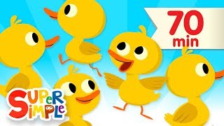 Repeat youtube video Five Little Ducks + More | Children's Songs and Nursery Rhymes | Super Simple Songs