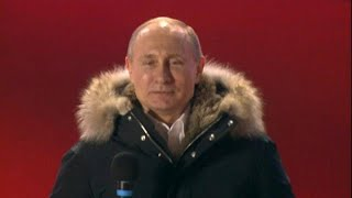 Putin basks in re-election victory thumbnail