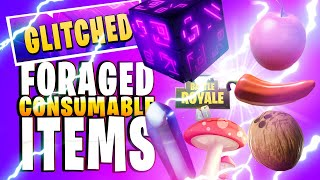 Glitched Foraged Consumable Items How to Find + Effects (Fortnite Content Update 10.10)