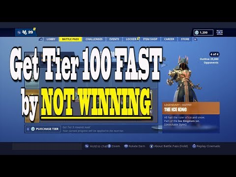 *NEW* Get Fortnite Tier 100 Fast Season 7 By NOT WINNING! Level Up Tips And Tricks | Ice King Grind