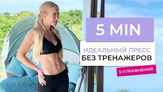 постер к видео Идеальный пресс за 5 минут БЕЗ ТРЕНАЖЕРОВ | упражнения для пресса