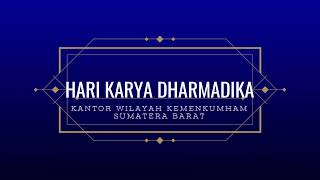 Hari Dharma Karyadhika Kementerian Hukum dan Hak Asasi Manusia Sumatera Barat Tahun 2019