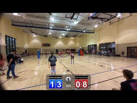 Konos Academy versus Griffin Christian Academy (August 26, 2021 -1st set)