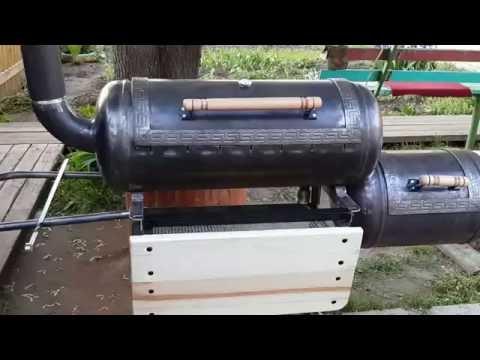 Коптильня из газового баллона своими руками видео