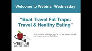 Beat travel traps - and healthy eating