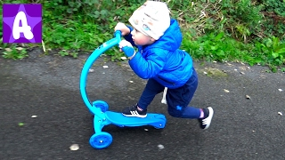 Little Boy Alex first Ride On Push Scooter Toy