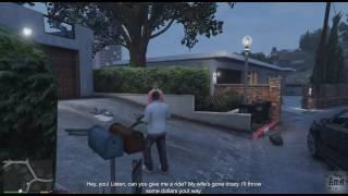 GTA 5 Franklin Random Event : Castro play golf while his wife evict him