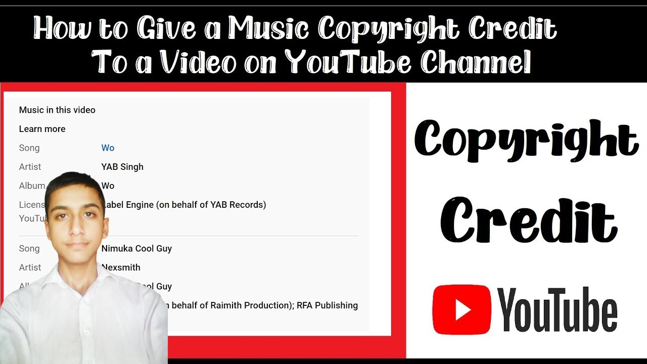 How To Give Copyright Credit To Music On Youtube Videos With Proved In 2020 Youtube