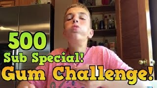 500 Subscriber Special - 100 PIECES OF GUM CHALLENGE - 100 Layers of Gum - Vlog | FalconsFury Gaming